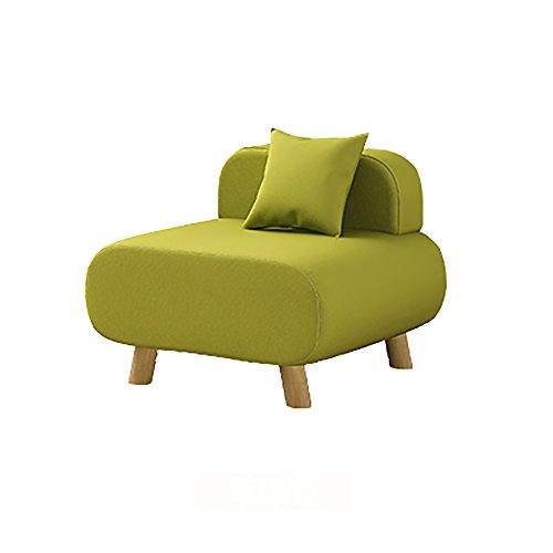 G-Y Sofa Paresseux, Chaise De Sofa De Salon, Petit Sofa Simple, Coussin De Dos De Chambre À Coucher (coton Et Toile) (Couleur : Grass green)