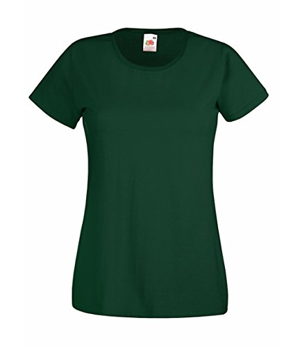 Fruit of the Loom Damen T-Shirt Größe XL Farbe Flaschengrün