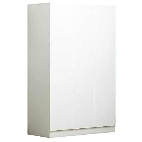 Matt White 3 Door Push to Open & Soft Close No Handle Wardrobe - Modern Bedroom Storage Furniture