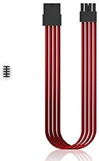 كابل بأكمام من DEEPCOOL EC300-PCI-E-RD - وصلة كابل لإمداد الطاقة، كابل PSU، موصل PSU، أحمر، 8 دبوس، مع مشط.