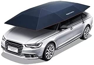 Shrinika Portable Semi-auto Outdoor Car Umbrella Sunshade Roof Cover Tent Protection (Dark Blue)