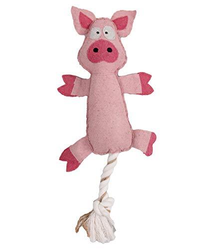 Dehner Hundespielzeug Farmy Pia, inkl. Quietscher, Länge ca. 46 cm, Polyester/Baumwolle, rosa