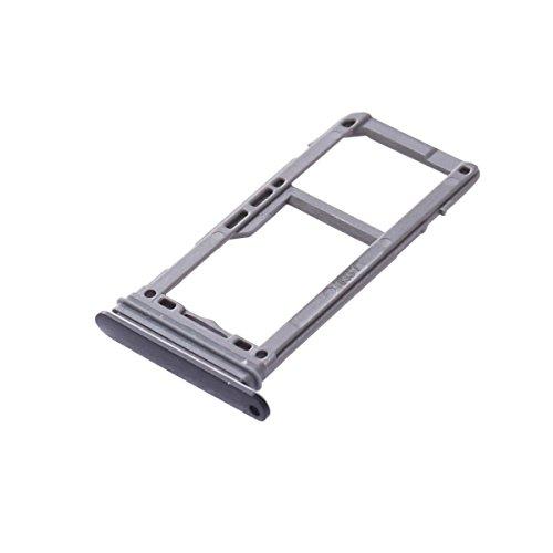 UKCOCO Bandeja de la Tarjeta SIM y Ranura para la Tarjeta SD Soporte de la Ranura Accesorios de Repuesto para celulares Samsung Galaxy S8 / S8 Plus Piezas de Repuesto (Negro)