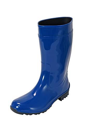 Regenliebe Damen Gummistiefel de Störtregen Regenstiefel Langschaft, Farbe:Kobalt, Größe:40 EU