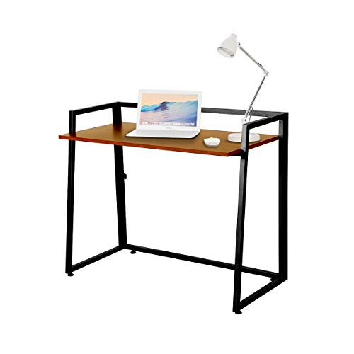 EUREKA ERGONOMIC Modern Folding Computer Desk Teen Student Dorm Study Desks 41-inch Cherry Wood Fold up Desk, Easy to be Folded or Unfolded for Writing, Laptop Working and Crafting, Fits Home Office