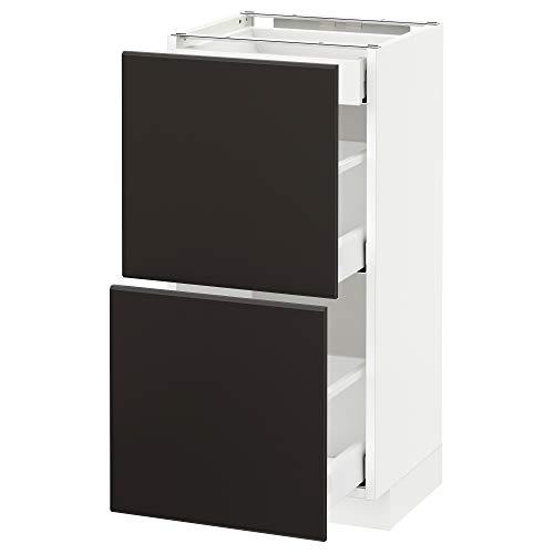METOD/Maxim bashytt med 2 fronter/3 lådor 40 x 39,2 x 88 cm vit/Kungsbacka antracit