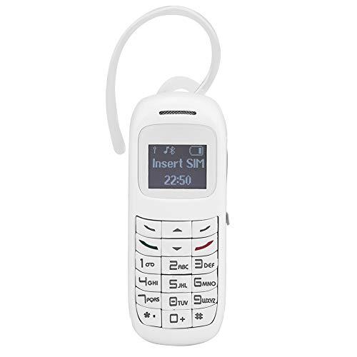 Surebuy Portable Compacto del teléfono móvil de Las Auriculares del Marcador del teléfono móvil, para la comunicación(Blanco)
