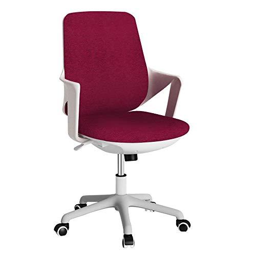 HHJJ Silla de videojuegos, moderna simplicidad, silla de salón de alta densidad, relleno de esponja, tela impermeable, antiestática, forro polar, con marco de plástico Pp – 53310Y4N1W (color rojo)