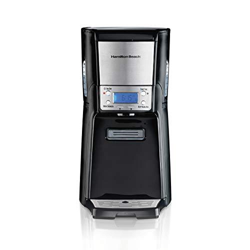 Hamilton Beach (48464) Coffee Maker with 12 Cup Capacity & Internal Storage Coffee Pot, Brewstation, Black