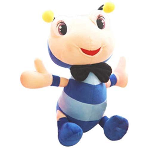 Uymkjv El muñeco de Peluche Azul Hormiga Feliz Mide 30 cm, un Lindo muñeco Creativo Suave con Ojos Grandes