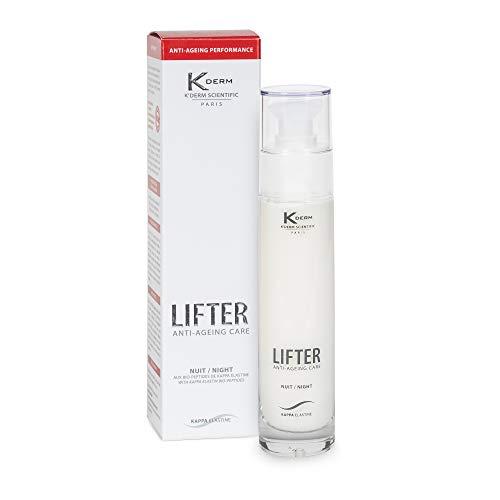 K'Derm - Lifter Nuit - Soin Anti-Age aux Bio-Peptides de Kappa-Elastine - Crème de Nuit Anti-Rides - Soin du Visage - Flacon-Pompe - 50 ml