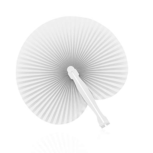 PAI PAI Blanco (Lote DE 125 UND) Detalles de Boda o Regalo-Económicos y funcionales- Abanicos de Boda Baratos-Abanicos para pintar- Abanico manualidades- Abanicos blancos baratos-PAY PAY para bodas