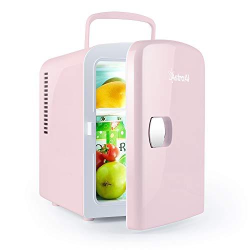 AstroAI 2 in 1 Mini Kühlschrank, 4 Liter mit Kühl- und Heizfunktion 12 Volt am Zigarettenanzünder und 230 Volt Steckdose für Autos, Büros und Schlafsäle 1
