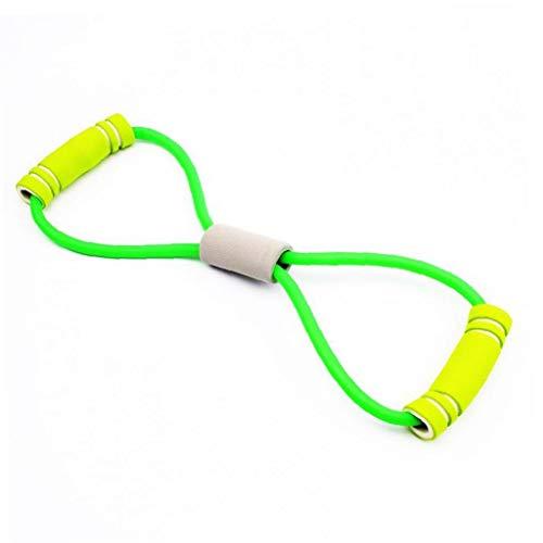 1PC 8 Tipo de múltiples Funciones de Entrenamiento de la Resistencia de la Banda de la Cuerda del Entrenamiento del Tubo Herramienta de Ejercicio de Yoga Gym Fitness (Amarillo)