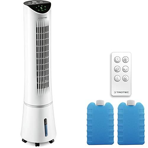 TROTEC Aircooler PAE 29 - Rinfrescatore d'aria 3 in 1 con design ventilatore a torre per il refrigerio, la ventilazione e l'umidificazione dell'aria