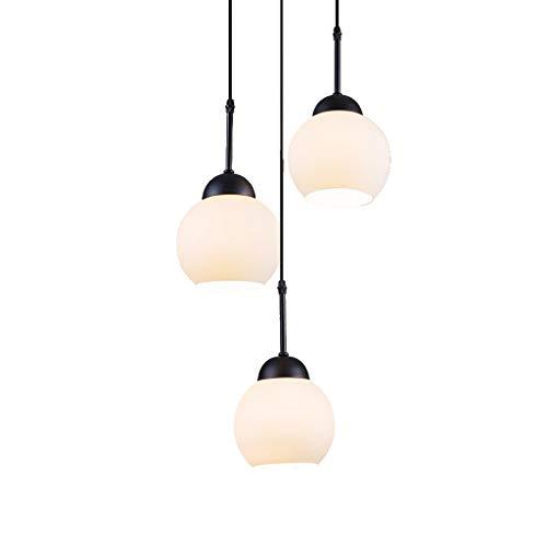 Hierro Cristal 3 retro del estilo de la lámpara, American Mesa de comedor redonda Estudio Comedor Araña