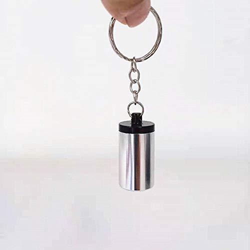 Ving Mini draagbare sigaret asbak voor buiten gebruik As houder zak dienblad met deksel sleutelhanger pillendoos opslag, lichtgrijs