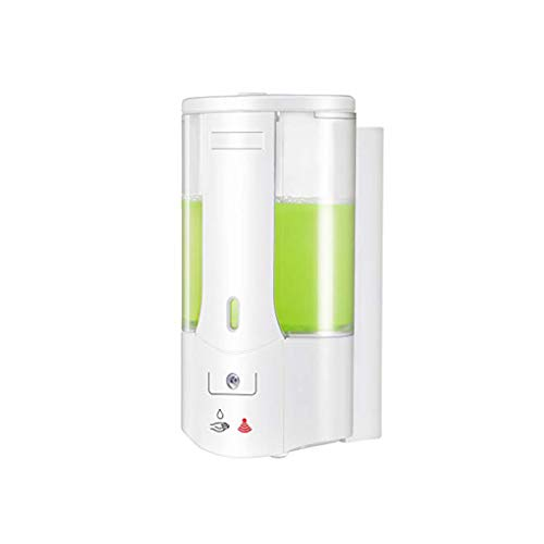 OURLITIME Dispensador automático de jabón, 400 ml, sensor de pared, impermeable, dispensador de jabón ajustable para baño y cocina