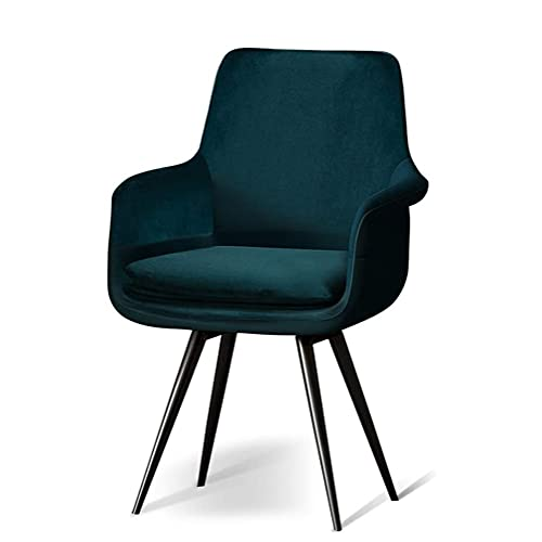 Duriano Nordic Swivel Computer Chair Home Office Schreibtischstuhl Ergonomischer Samt Akzent Stuhl Gepolsterter Sitz Küche Esszimmerstuhl Gelegentliche Stühle mit Armlehnen und Metallbeinen