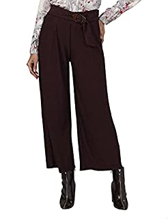 Splash Solid Belted High-Rise Palazzo Pants for Women - , 18