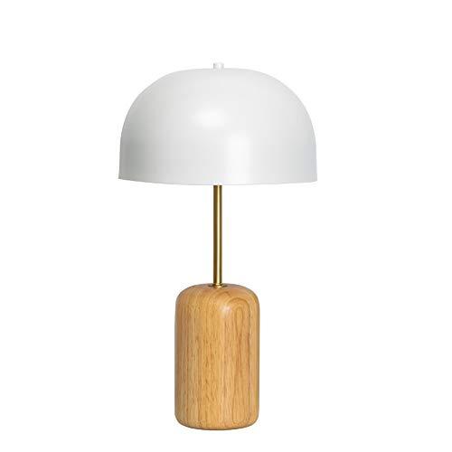 Luyshts Lámpara de escritorio creativa para dormitorio nórdico, estilo japonés, decoración de la sala de estar, mesa de noche, lámpara de escritorio de metal de madera maciza, 25,5 x 46,5 cm