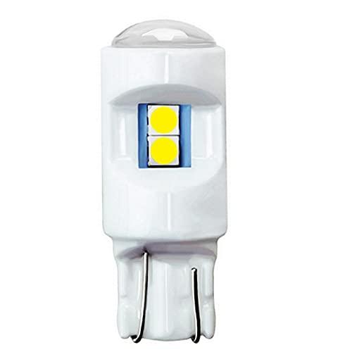 2 uds T10 W5W Nueva cerámica súper Brillante 3030 Bombilla LED Interior del Coche lámpara de cúpula de Lectura Auto cuña luz de estacionamiento Blanco Rojo Amarillo Azul 12V