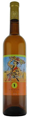 Georgischer Wein KAKHURI trocken - Oranger Wein, kachetische Weinbereitungsmethode, aus autochthone Rebsorte Rkatsiteli, 0,75L, Georgien