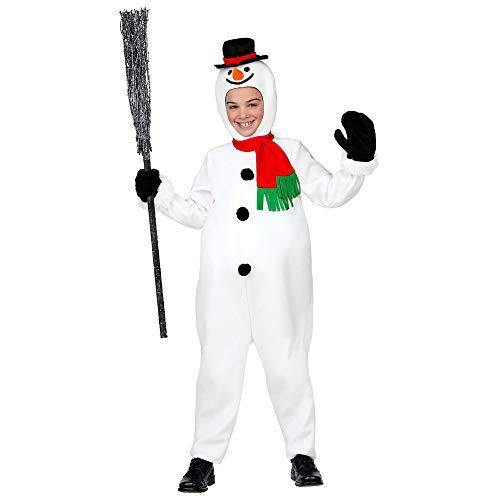 WIDMAN - Disfraz de muñeco de Nieve, diseño navideño para niños
