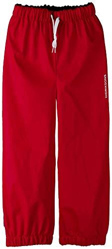 Didriksons Pantalons Imperméables Pantalons de Randonnée Midjeman Enfant Pantalon 4 Rouge Coupe-Vent Élastique - 314 Piment Rouge, 100