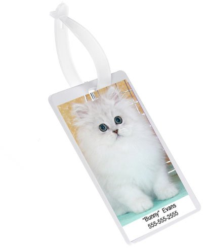 DryFur Pet Carrier Picture Holder ID Tag - Luggage ID Tag - 2 Tags