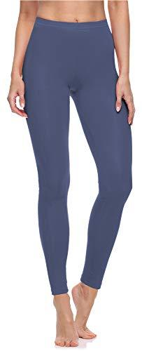 Merry Style Damen Lange Leggings aus Baumwolle MS10-198 (Jeans,XL)
