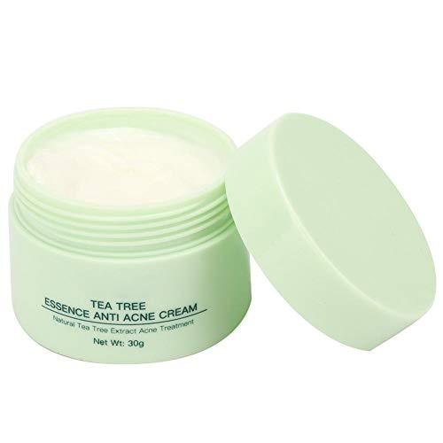 Crema para el Tratamiento del Acné Crema de Suero de Cara de árbol de Té para la Reparación Anti-acné Crema Reparadora de la Piel