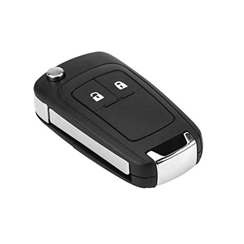 Llave, carcasa de llave, llave de coche con mando a distancia, llave de coche de repuesto, 2 botones plegables para llave de coche