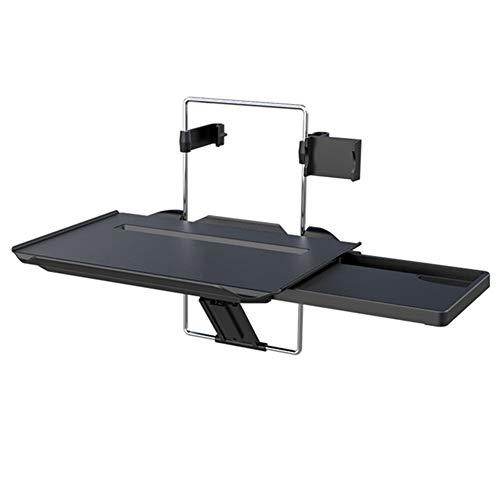 APXZC zwarte multifunctionele draagbare opvouwbare auto kleine tafel, met verborgen lade, demontage handige, ABS materiaal, voor zelfrijdende Tour zakelijke reis