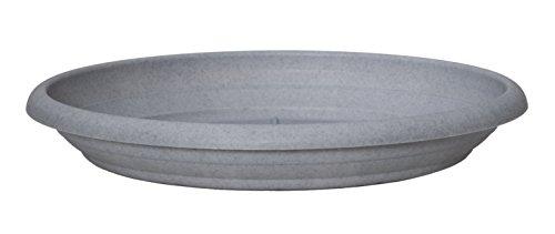 Scheurich Untersetzer aus Kunststoff, Granite Grey, 30 cm Durchmesser, 4,7 cm hoch