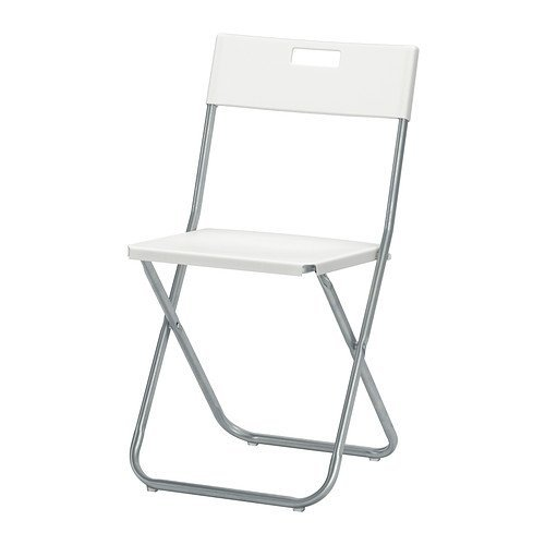 Silla Plegable Gunde, Color Blanco