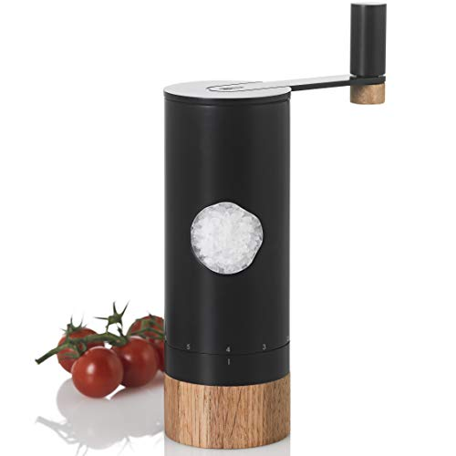 AdHoc MP53 Pfeffer-, Salz-Getriebemühle PowerMill, Keramik Mahlwerk, Edelstahl/Holz