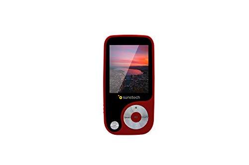 Sunstech Thorn - Reproductor de MP4 (4 GB, pantalla de 1,8 , Radio) rojo