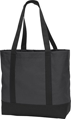 Port Authority Day Tote. BG406 Dark Charcoal/ Black One Size