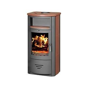 Estufa de leña chimenea moderna Log quemador estufa para madera, nuevo 7kW