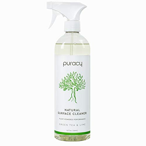 Puracy Natural All Purpose Cleaner, Streak-Free Household Multi-Surface Spray, Nontoxic, Green Tea & Lime, 25 Fl. Oz (Pack of 1)