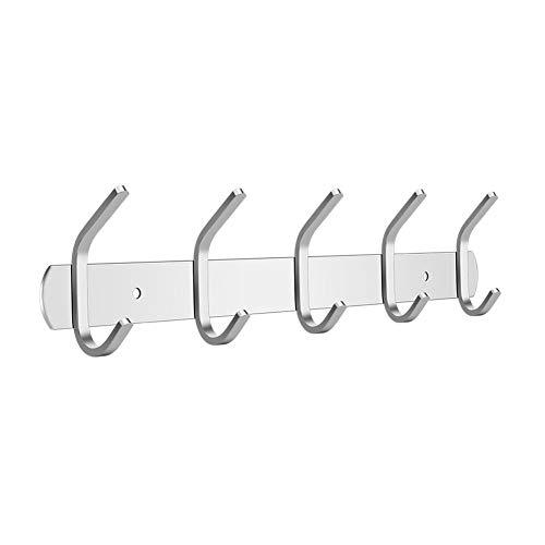 Rucae Percheros de pared - Toallas de baño Ganchos para pared, percha de acero inoxidable Soporte para ropa resistente