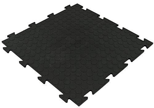 Gewerbeboden PVC Fliesen Noppen 8mm Garagenboden Industrieboden Klick-Verlegung schwarz