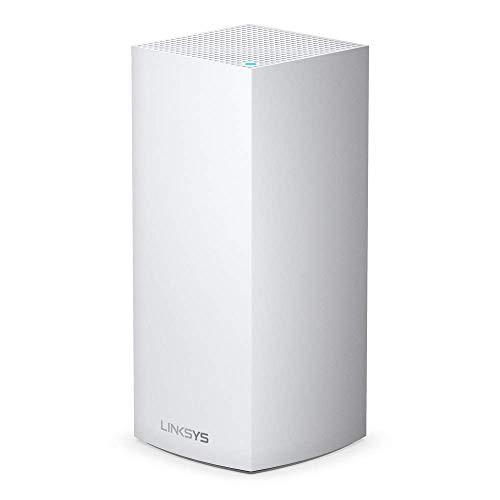 Linksys MX5300 Velop Tri-Band WiFi 6-Mesh-WLAN-System (AX5300 WLAN-Router/Extender für ein nahtloses WLAN von bis zu 260 m² & 4-mal höhere Geschwindigkeiten für über 50 Geräte, 1er-Pack, Weiß)