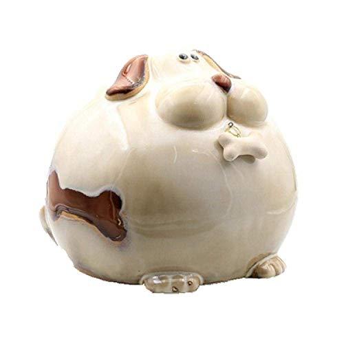 JKCKHA Arte Decoraciones del Arte del Perrito de la decoración del hogar de cerámica Hucha alcancía de Dibujos Animados Retro