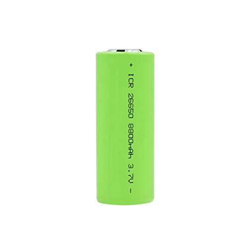 ZhanMazwj 26650 3.7v 8800mah Batería, Batería Recargable De Iones De Litio BateríAs Seguras Uso Industrial Litio Adecuado para Batería De Linterna 1PCS