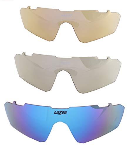 Lazer Set Lenti Occhiali da Ciclismo M3Eddy Blu 3 Pezzi