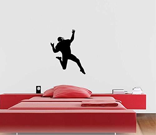 Wall Art American Football Plays Player Jump Vinyl Aufkleber - Auto, Window, Laptop, Boy Room Wall, Mac Easy to Apply