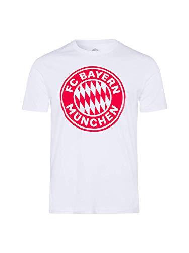 FC Bayern München T-Shirt Logo Uni weiß, L