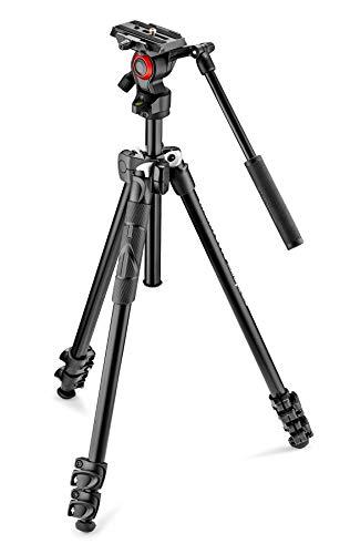 Manfrotto MK290LTA3-V Kit 290 Light con Testa Fluida Video, Nero